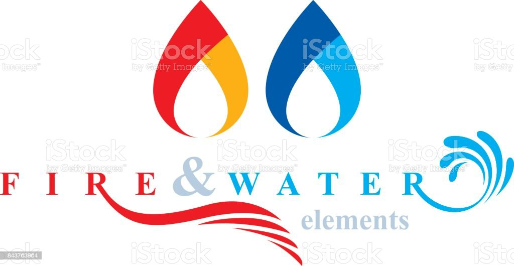 Nature Elements Harmony Symbol For Use As Corporate Emblem Fire And