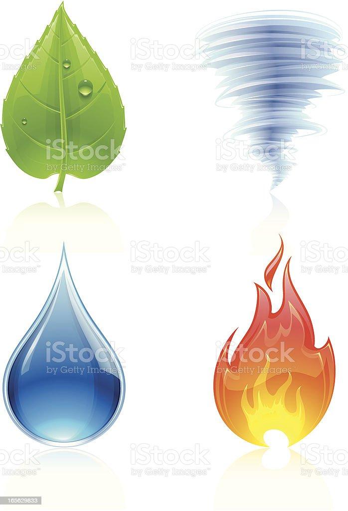 Nature Elements vector art illustration