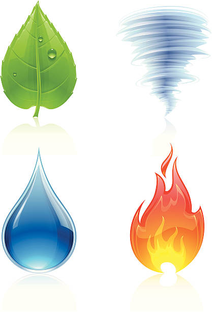Nature Elements vector art illustration