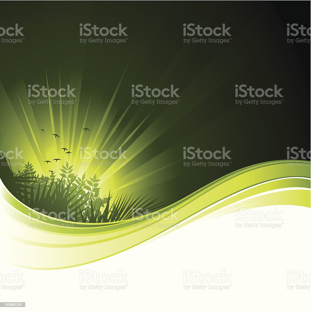 Nature flow background royalty-free stock vector art
