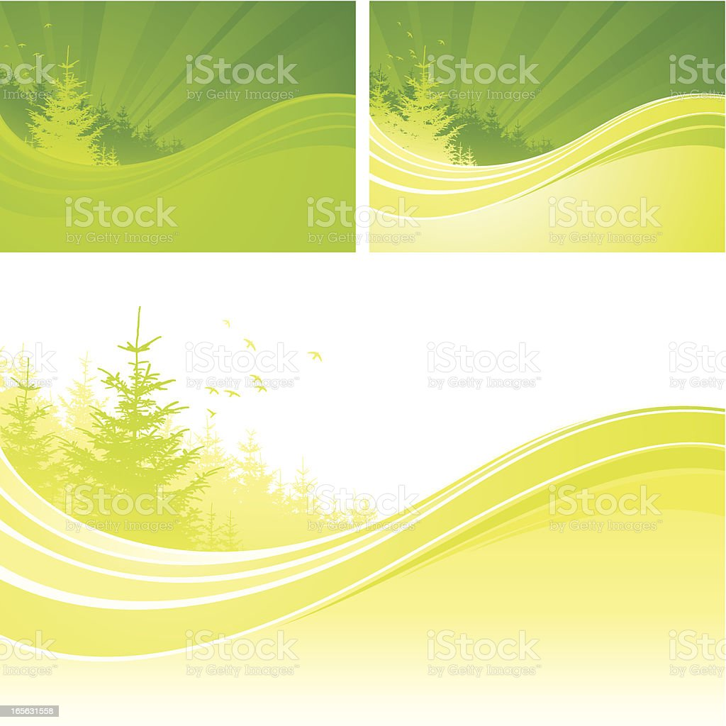 Nature flow royalty-free stock vector art