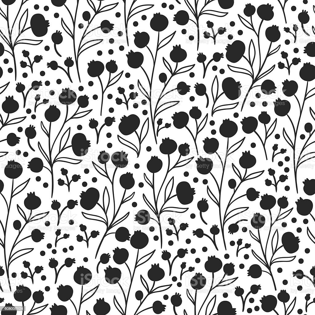 Nature flower pattern background vector art illustration