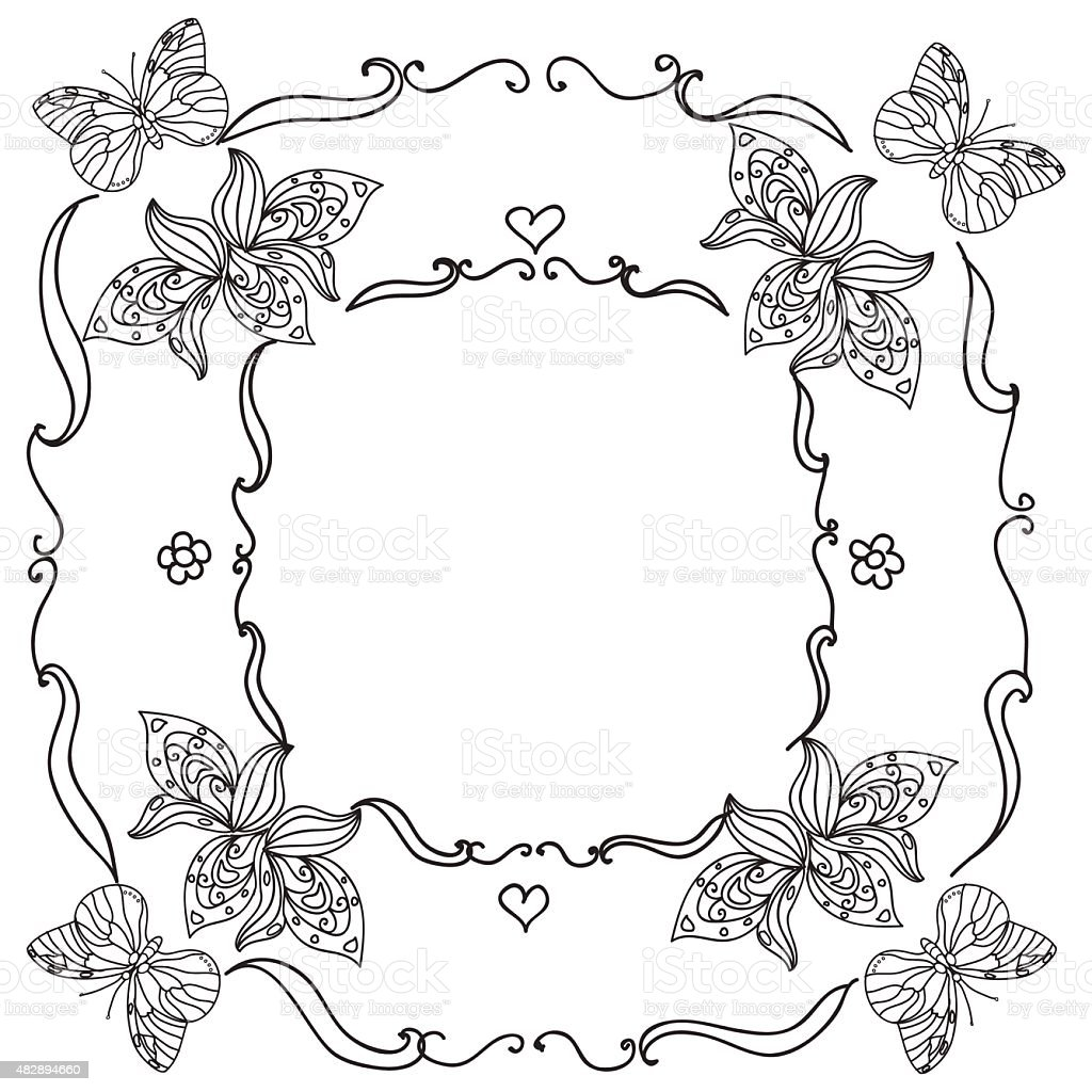 nature frame mandala stock illustration download image now istock 2