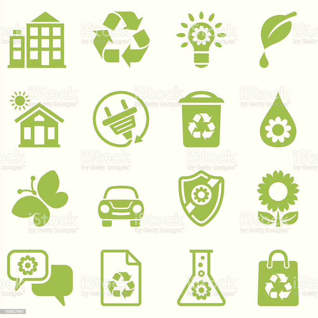 nature friendly icon set green royalty-free nature friendly icon set green stock vector art & more images of alternative energy