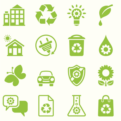 nature friendly icon set green