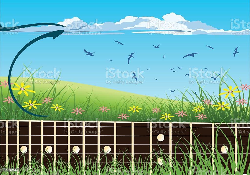 Nature Guitar royalty-free stock vector art