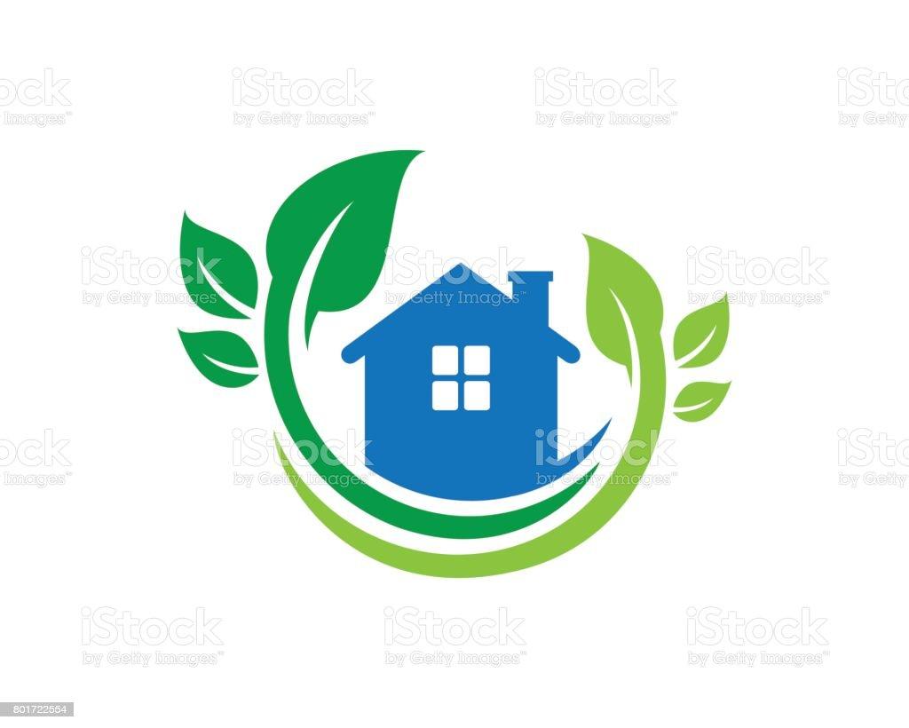 Natureza símbolo de casa modelo Vector Design, emblema, conceito, símbolo criativo, ícone de Design - ilustração de arte em vetor