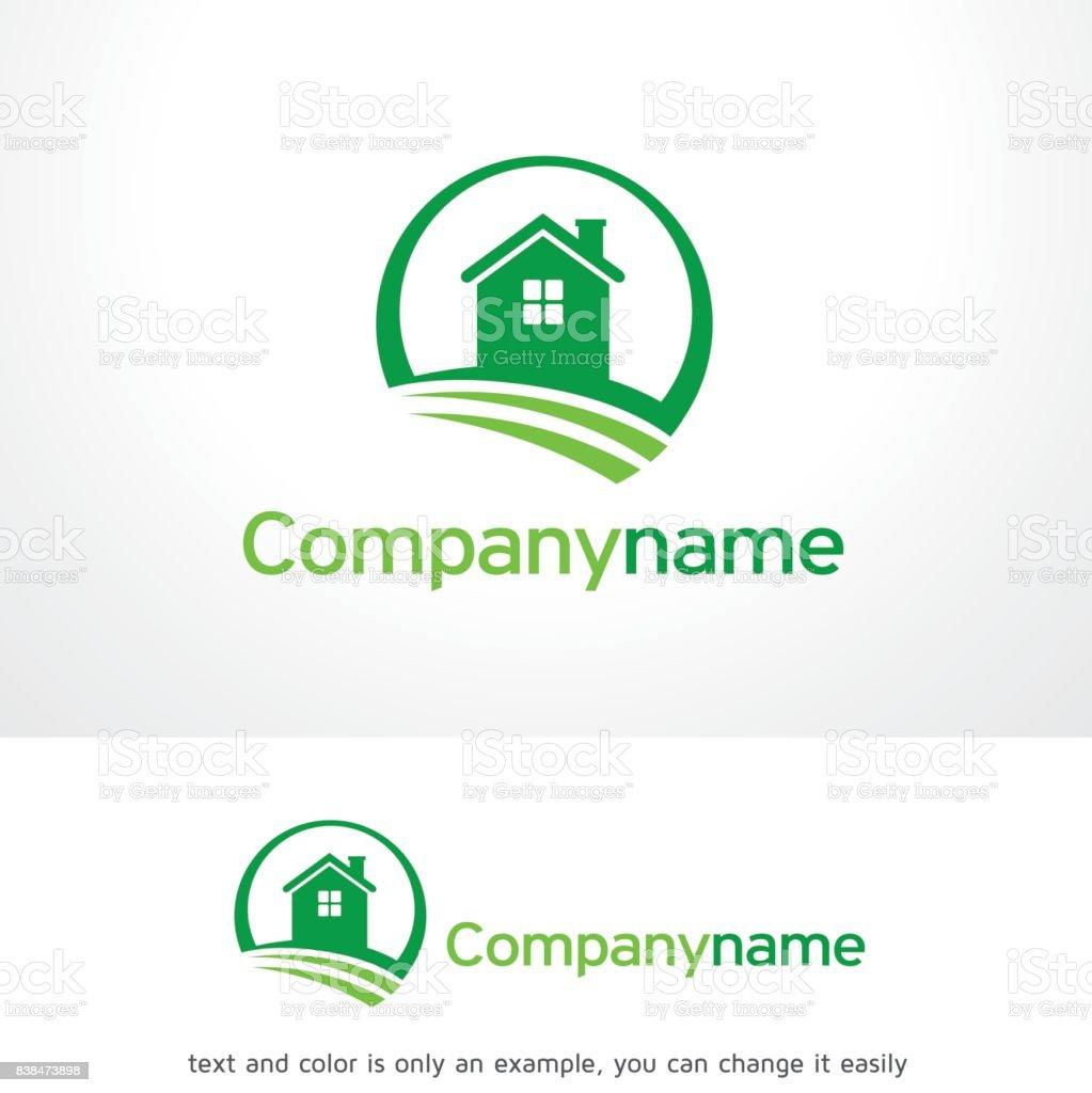 自然の家のシンボル テンプレート デザインのベクトル、エンブレム、デザイン コンセプト、創造的なシンボル アイコン ベクターアートイラスト