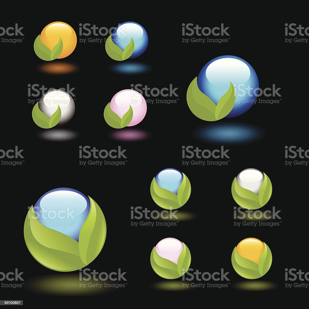 Nature icon set royalty-free stock vector art