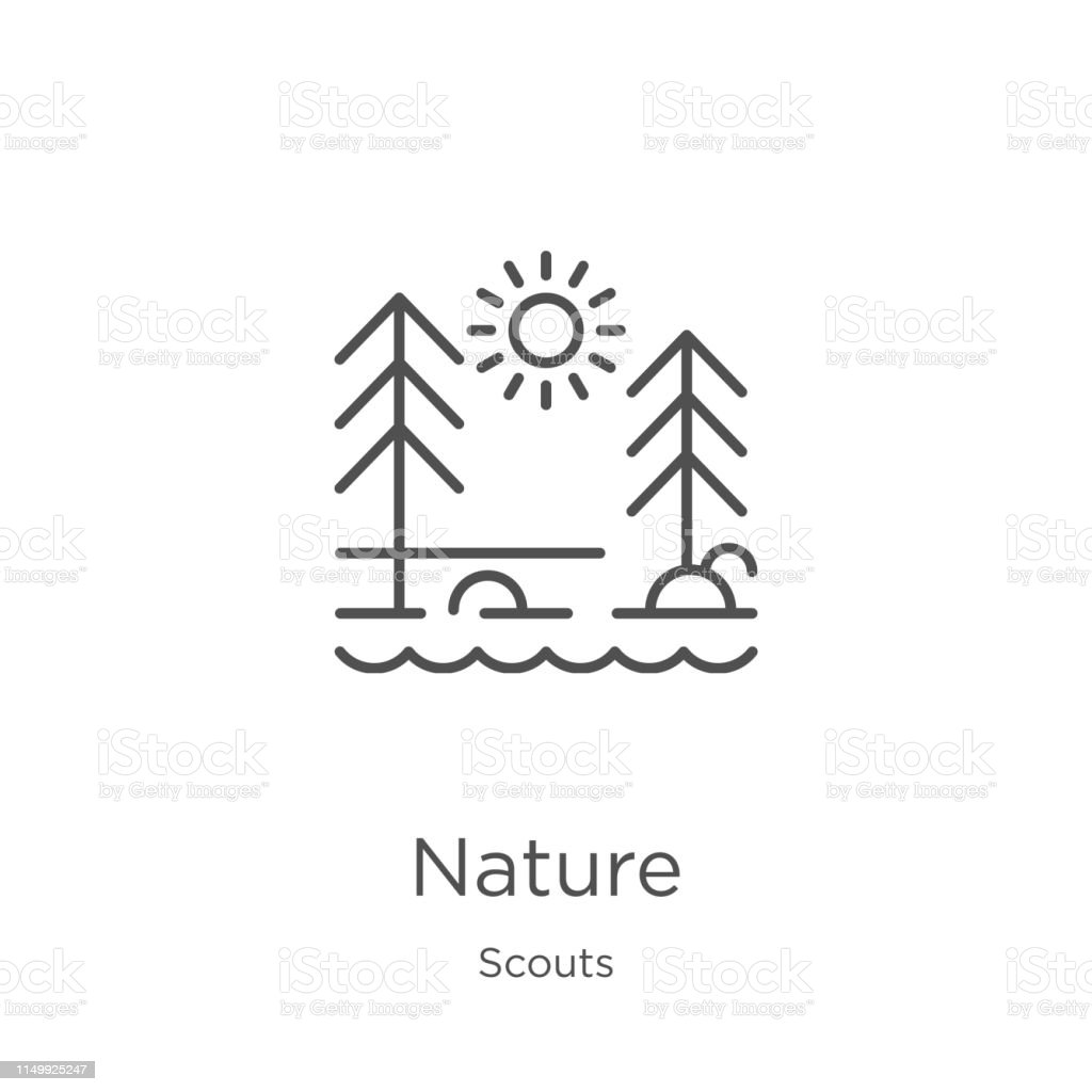 nature icon. Element of scouts collection for mobile concept and web...