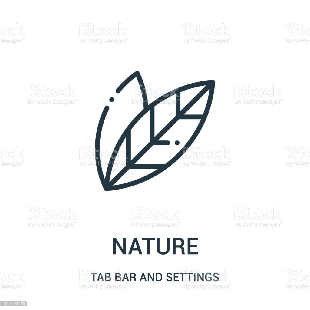 nature icon vector from tab bar and settings collection. Thin line...