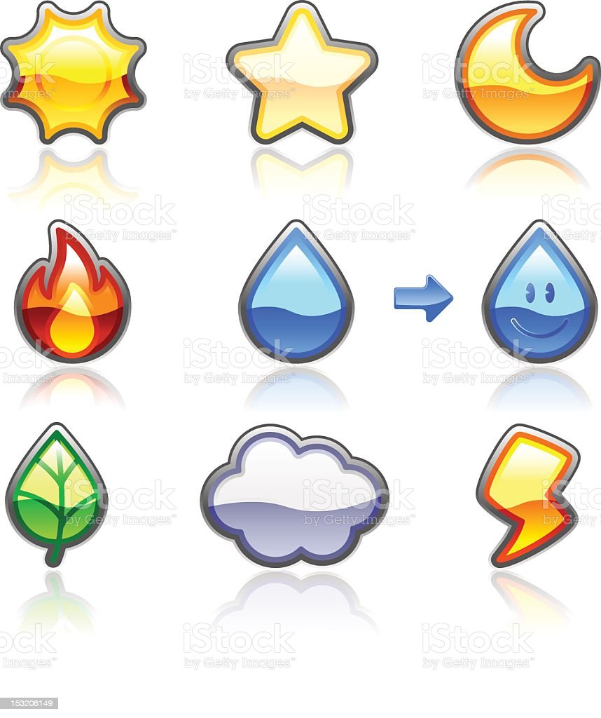 Nature Icon royalty-free nature icon stock vector art & more images of anthropomorphic smiley face