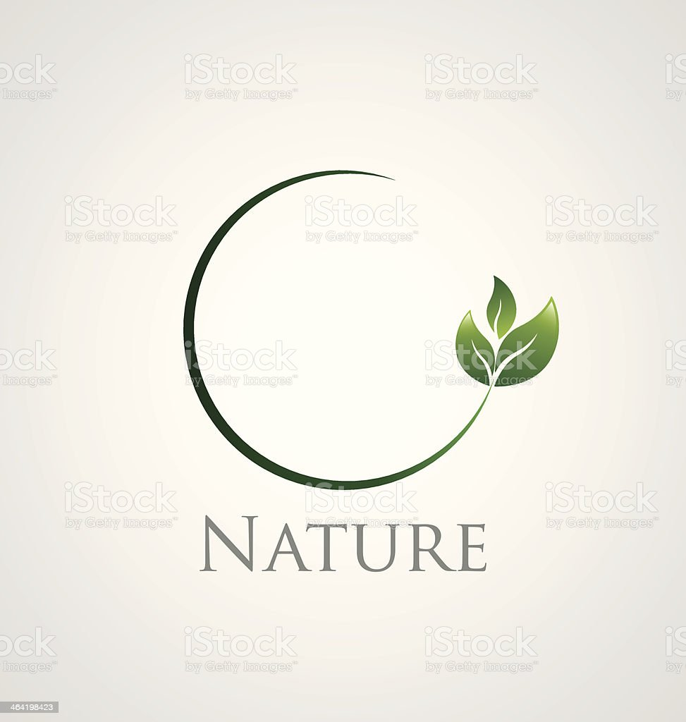 Nature icon vector art illustration