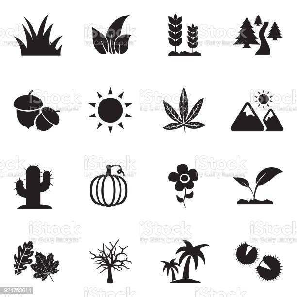 Nature icons black flat design vector illustration vector id924753614?b=1&k=6&m=924753614&s=612x612&h=xikstuqe0e17u0s15iyjtmv grplwbvbdsphg61djo0=