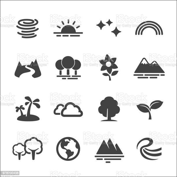 Nature icons set acme series vector id978200438?b=1&k=6&m=978200438&s=612x612&h=cicphcbcxo150yuplfxfvjwih3t8r q4cob605xwvqq=