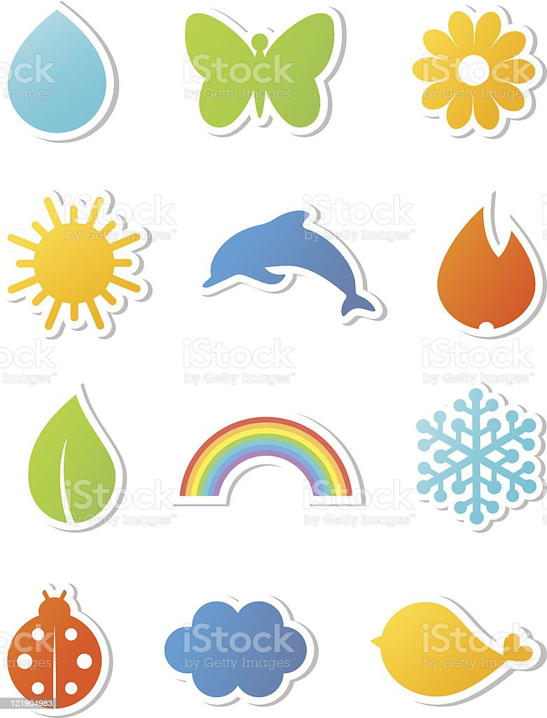 Nature icons set. Vector illustration. royalty-free stock vector art