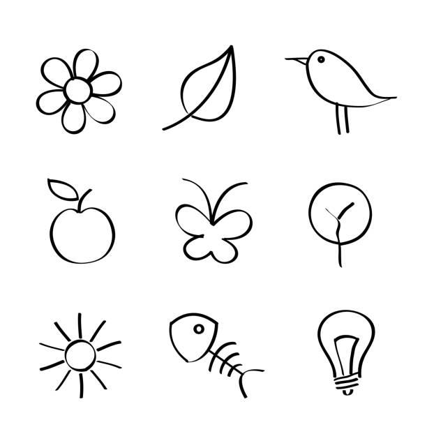 Natur-Symbole – Vektorgrafik