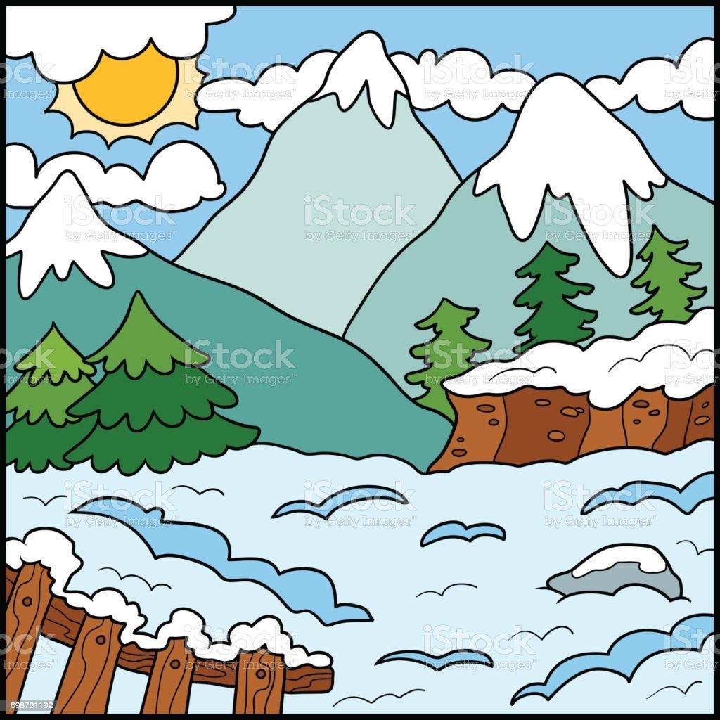 illustration de la nature fond de couleur montagne hivernale cliparts vectoriels et plus d. Black Bedroom Furniture Sets. Home Design Ideas