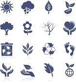Nature interface icon collection