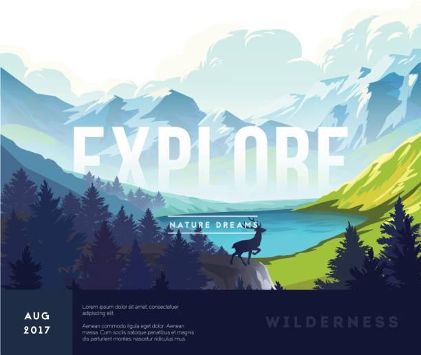 nature landscape background - nature travel stock illustrations, clip art, cartoons, & icons