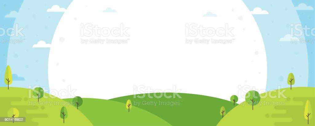 Natur Landschaft Hintergrund – Vektorgrafik