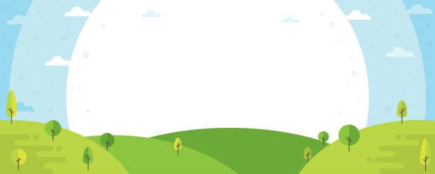 Nature paysage en arrière-plan - Illustration vectorielle