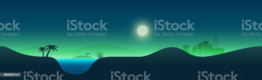 Nature landscape illustration vector art illustration