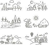 Free Russian Landscape Clipart and Vector Graphics