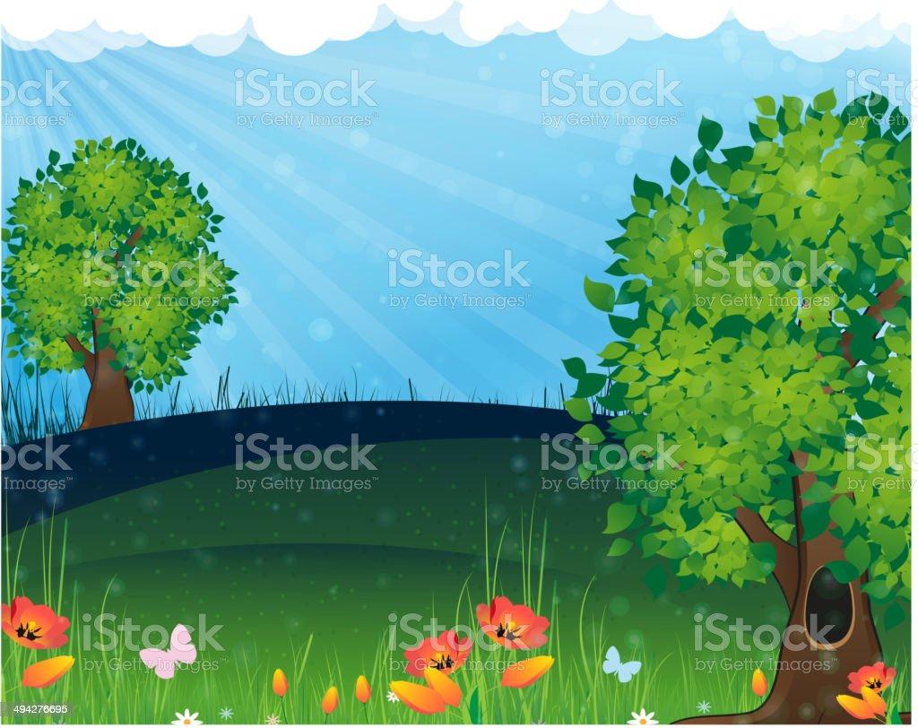 Nature landscape royalty-free nature landscape stock vector art & more images of blue