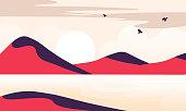 istock Nature landscapes stock illustration 1283808956