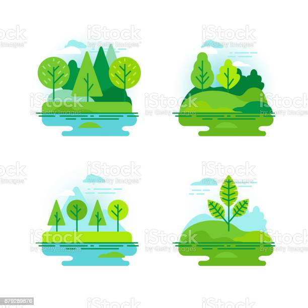 Nature landscapes with green trees vector id879289876?b=1&k=6&m=879289876&s=612x612&h=edsippoiygetrzw nrhocccgpphjaljdslvu9vyu bm=