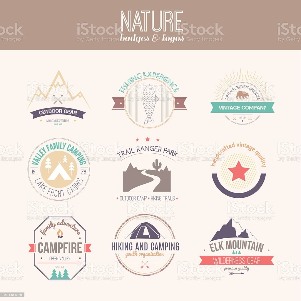 Nature Logo Collection vector art illustration