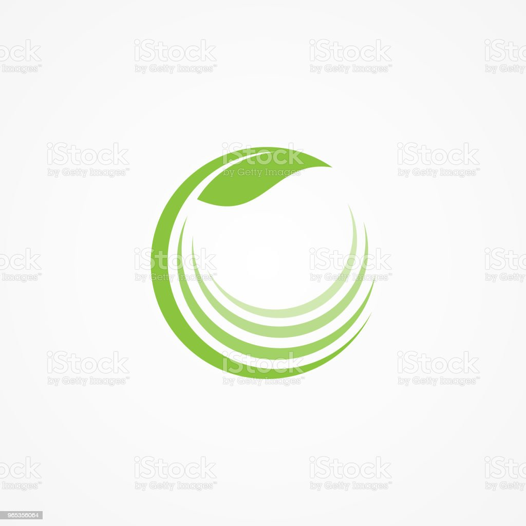 건강 관리 회사 아이콘 개념에 대 한 자연 로고 - 로열티 프리 개념 벡터 아트
