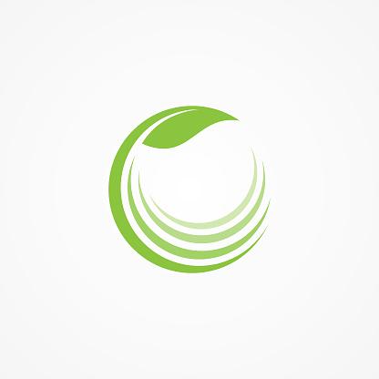건강 관리 회사 아이콘 개념에 대 한 자연 로고 개념에 대한 스톡 벡터 아트 및 기타 이미지