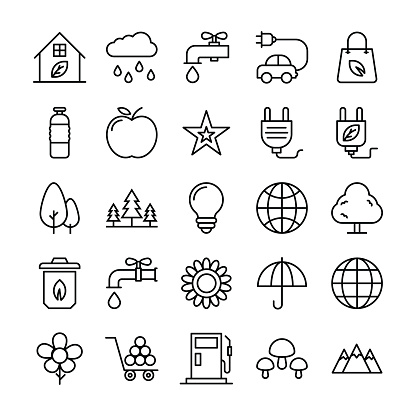 Nature, Park Vector Icons 2