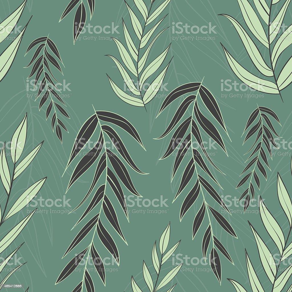 Узоры веточки с листьями 92