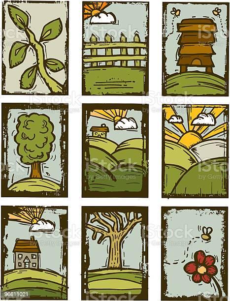 Natureza Imprime - Arte vetorial de stock e mais imagens de Abelha