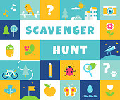 istock Nature Scavenger Hunt. Summer Camp and Community Activity and Game for Children 1226468802