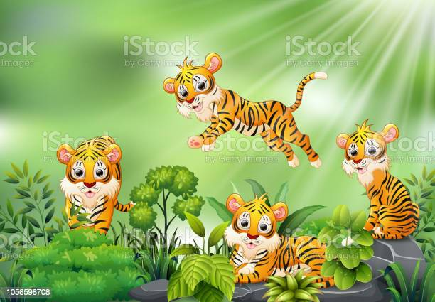 Nature scene with group of tiger cartoon vector id1056598708?b=1&k=6&m=1056598708&s=612x612&h=9jvxrk9lfvye d z888kdmkfqvkjqxdfoc7wq367eyg=