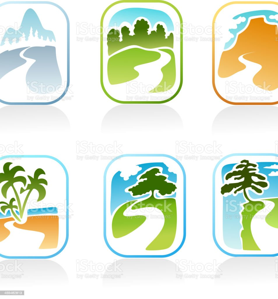 Nature set royalty-free nature set stock vector art & more images of backgrounds