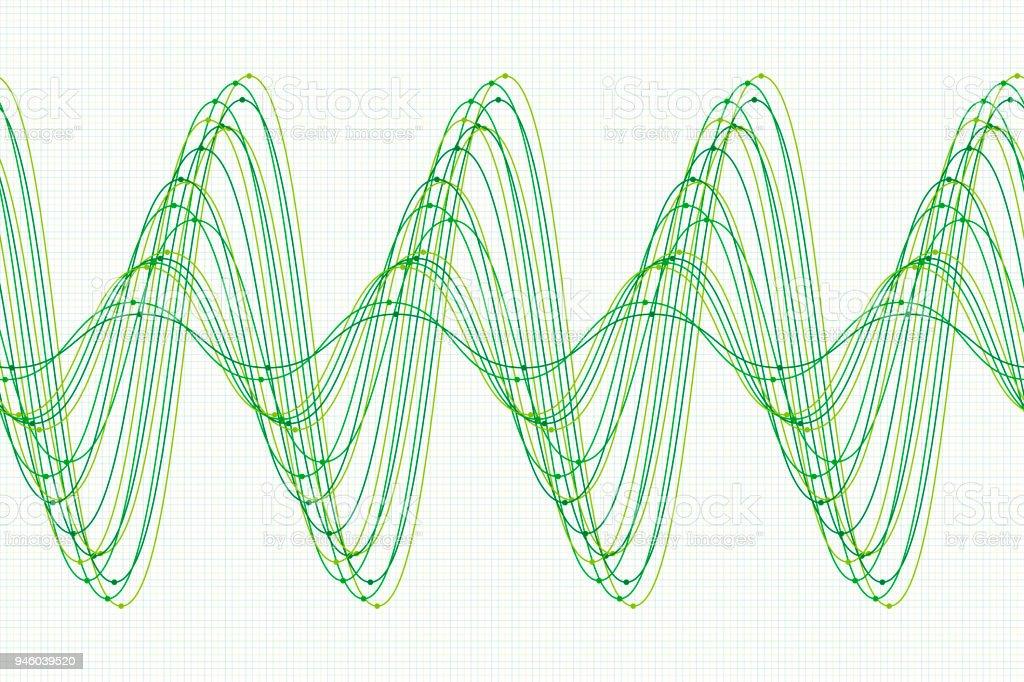 Nature Sine Wave Line Pattern Horizontal vector art illustration