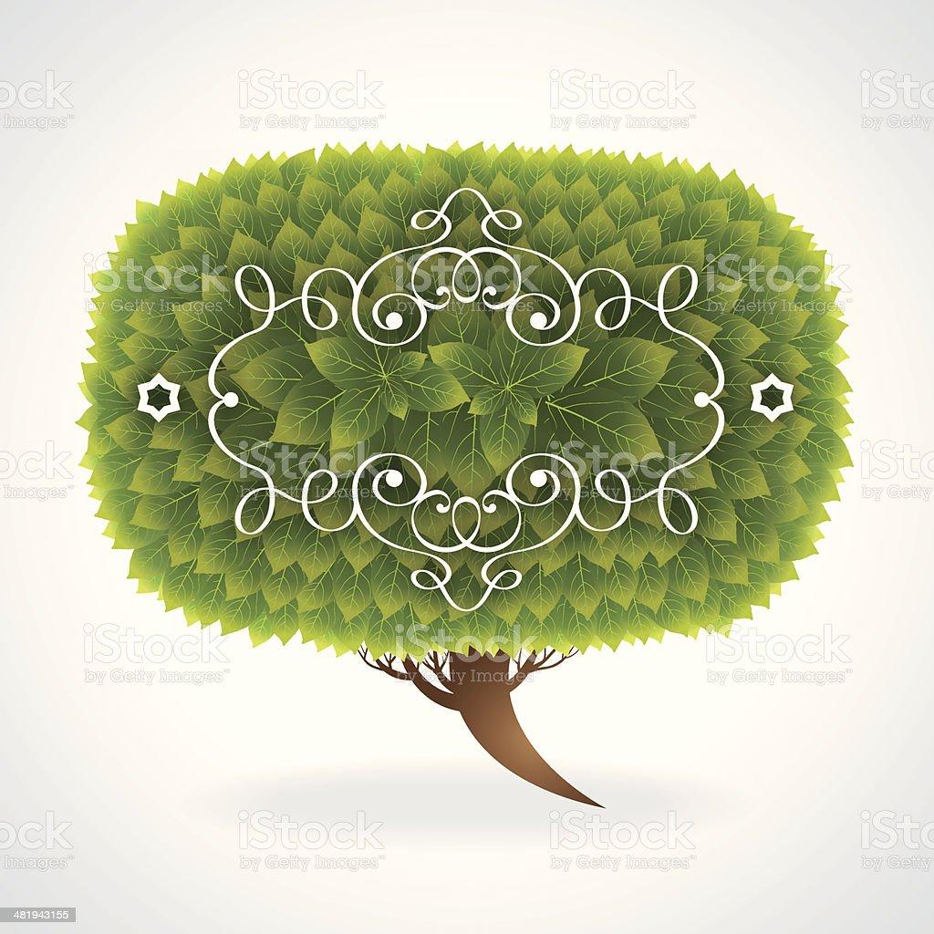 Nature Speech Bubble royalty-free stock vector art