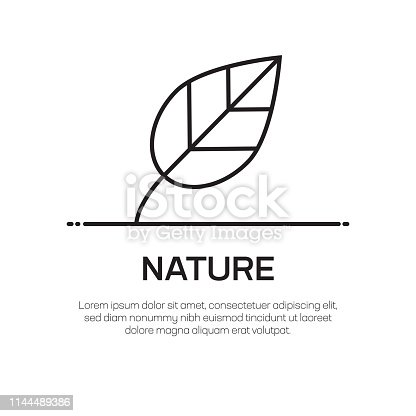 Nature Vector Line Icon - Simple Thin Line Icon, Premium Quality Design Element