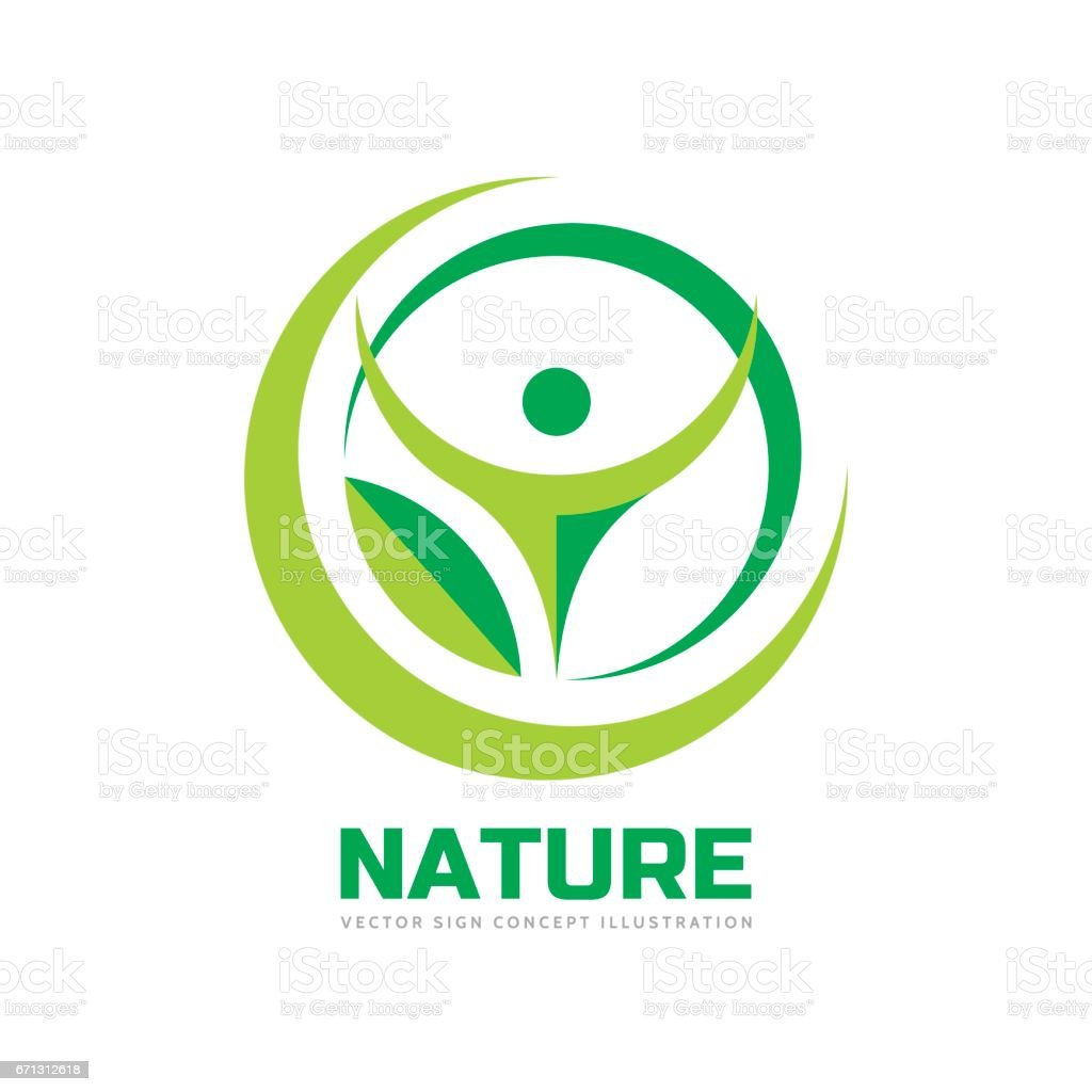 nature vector logo template concept illustration in flat style