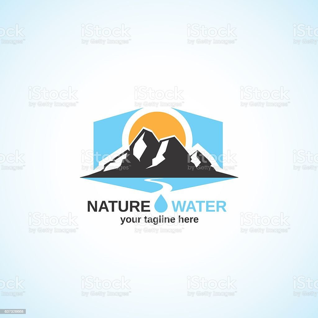 Natur Wasser.   – Vektorgrafik