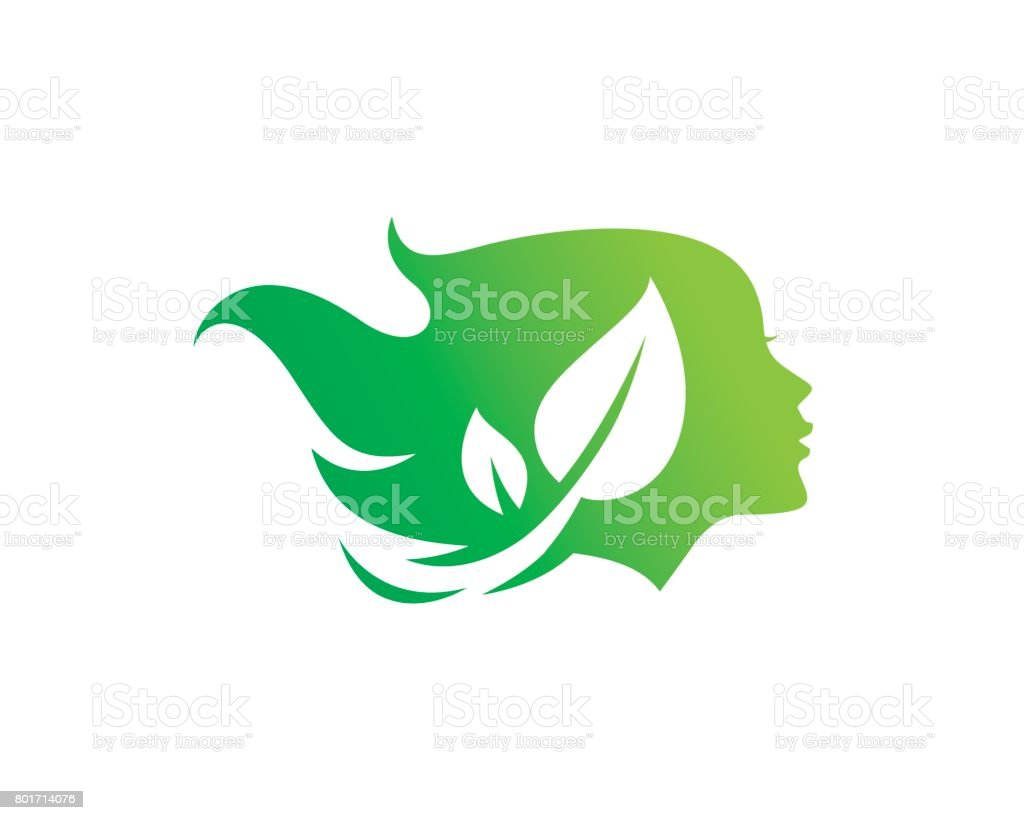 Nature Woman Symbol Template Design Vector, Emblem, Design Concept, Creative Symbol, Icon vector art illustration
