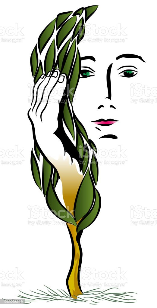 Nature woman royalty-free nature woman stock illustration - download image now