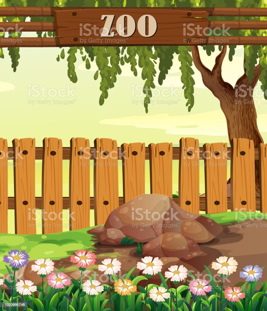 a nature zoo template stock vector art more images of art