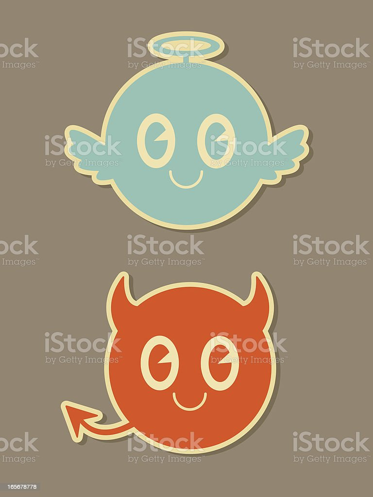 Naughty and Nice Icons vector art illustration