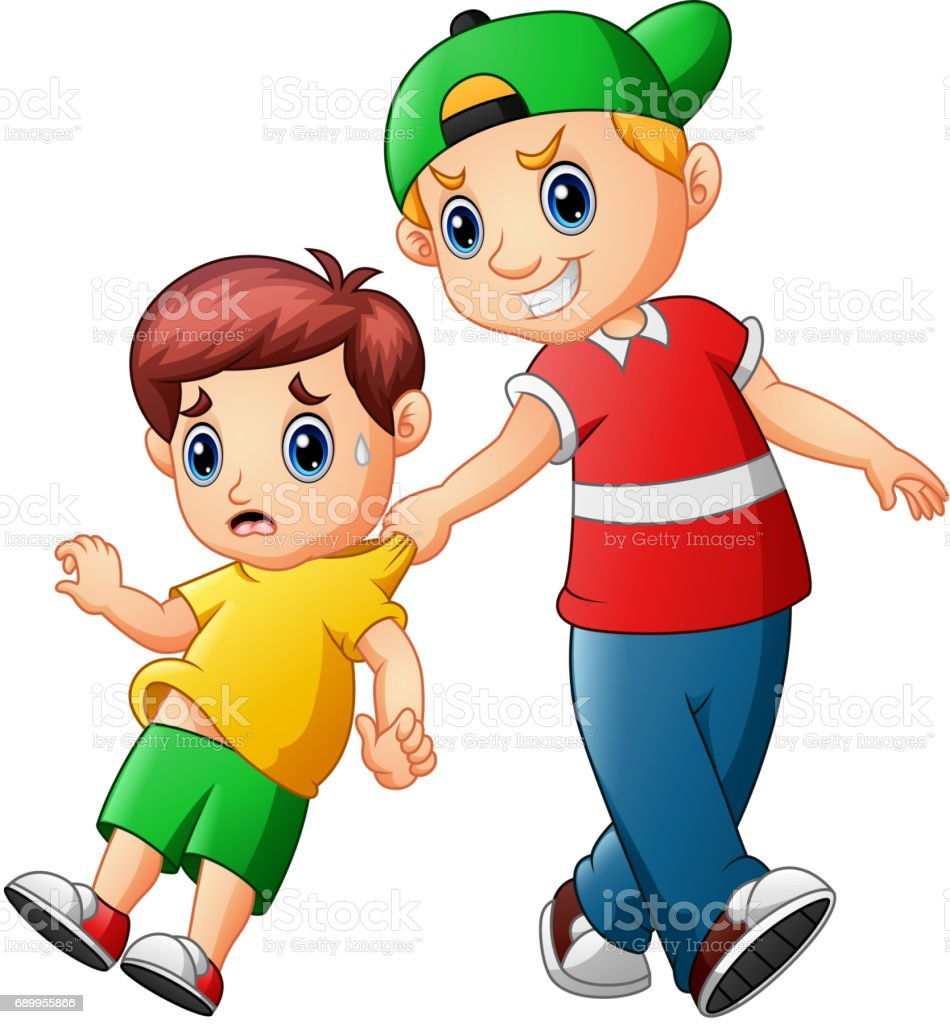 Naughty kids clipart